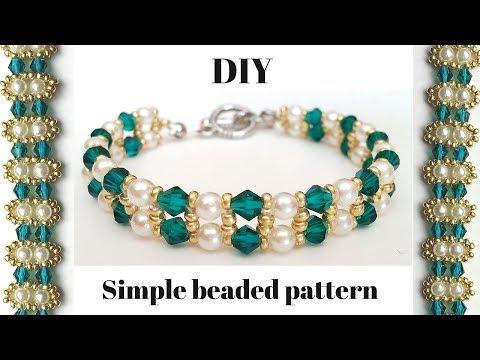 Elegant Beaded Bracelet . Diy Jewelry Making Tutorial