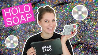 HOLO SOAP + HOLO TACO GIVEAWAY // Holographic Cold Process Soap Inspired by Simply Nailogical