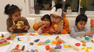 Unboxing Lots of Toy Vegetables and Foods and Learn names from Ishfi