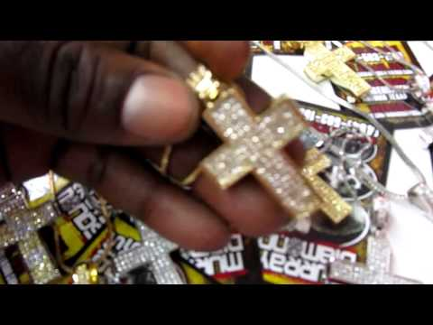 """LIL WAYNE'S"" SMALL DIAMOND CROSS & CHAIN $75"