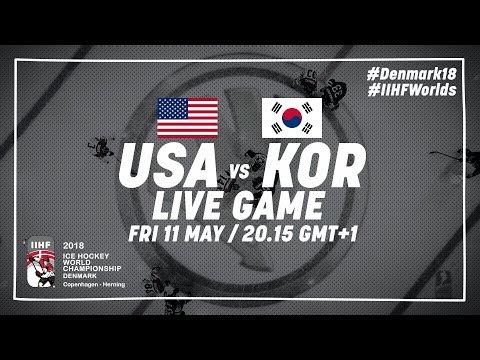 USA - Korea   Full Game   2018 IIHF Ice Hockey World Championship