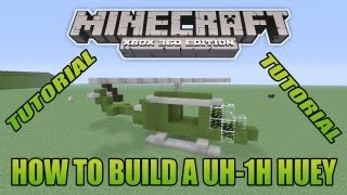 Minecraft Xbox Edition Tutorial How To Build A UH-1H Huey
