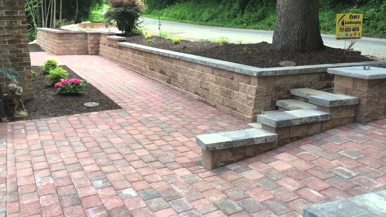 Front yard renovation ideas for retaining walls steps & paver ...