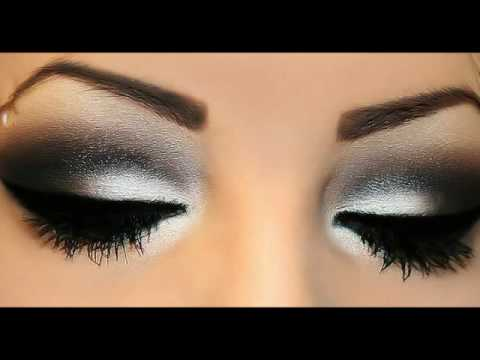 Image result for black and white eye makeup