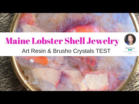#1 Maine Lobster Shell Jewelry How To DIY Resin and Brusho