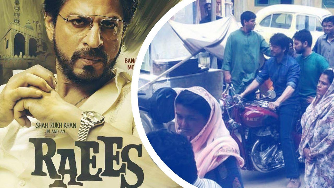 Download Shahrukh Khan Ride Vintage Bike On Raees Set !!