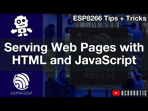 ESP8266 Web Server HTML, JavaScript, And AJAX Webpages Using Arduino IDE (Mac OSX And Windows)