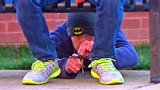Crazy Pank : Tying Peoples Shoes and Stealing their Stuff