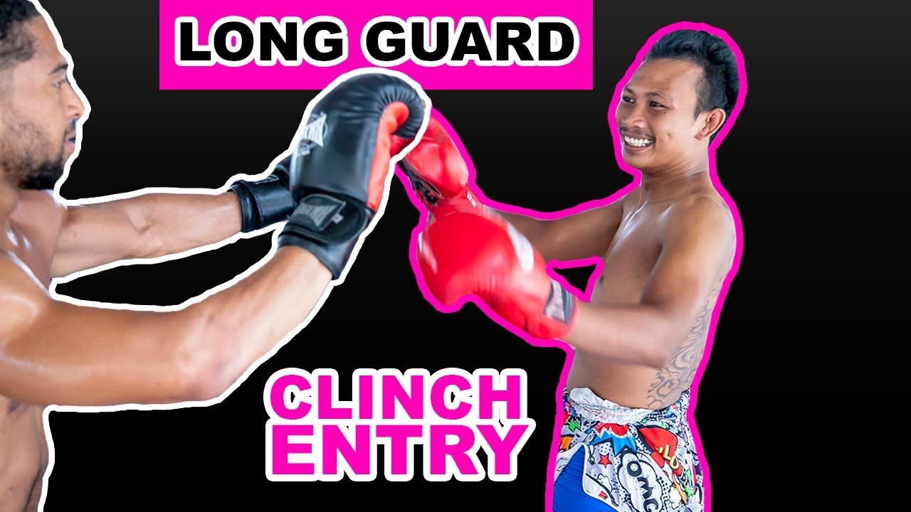 Muay Thai Defense Against Punches | Long Guard to Thai Clinch Entry