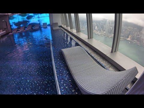 World's Highest Swimming Pool - 118th Floor, 1,588 Ft - Ritz Carlton Hotel - Hong Kong