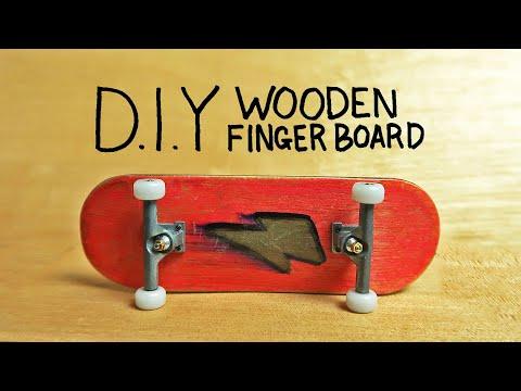 D.I.Y WOODEN FINGERBOARD!