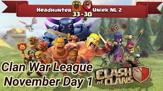 Headhunter vs Uniek NL 2 | War League Oktober Recaps | champions League 3 | COC clash of clans 2018