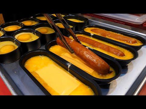 소시지 치즈 계란빵 / sausage cheese egg bread - korean street food