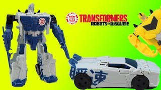 Transformers Robots In Disguise Sideswipe Blizzard Strike with Optimus Prime, Bumblebee & Ratchet!