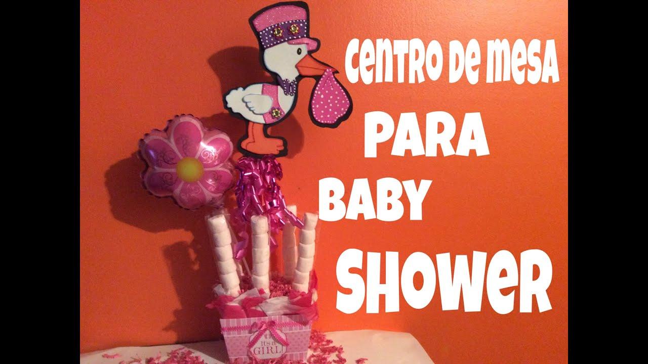 centro de mesa para baby shower manualidades faciles youtube