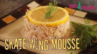 Skate Wing Mousse. Superb Seafood Mousse Recipe Using Skate Wing Meat.