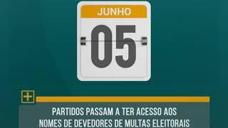 Calendário eleitoral - dia 05 de junho.