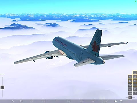 Infinite Flight GLOBAL AMAZING Flight Ever Port Hardy- Bella Coola A320 Air Canada