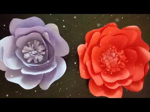 PAPER ROSE FLOWER CRAFT| PAPER ROSE WALL CRAFT | Easy decoration paper flower /DIY