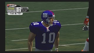 NFL 2K5 Franchise Mode Week 3 Giants vs Browns
