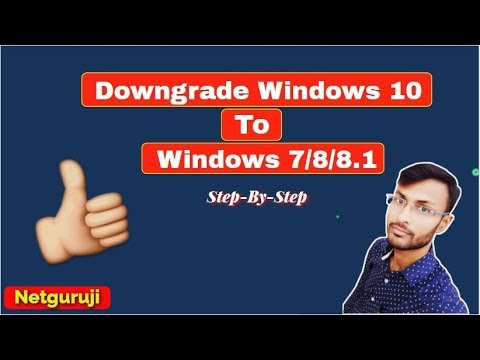 How To Downgrade Windows 10 To Windows 7/8/8.1( Step By Step Guide)