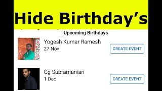 How To Turn Off/Hide Birthday Reminder Notifications On Facebook-Remove Notification From Facebook