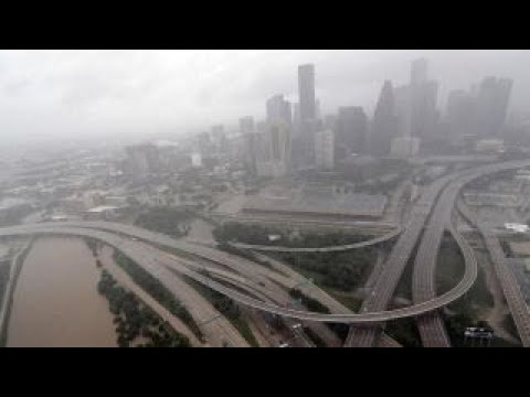 Downtown Houston threatened as floodwaters top levees