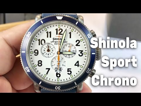 aedcc13ce Shinola 48mm Runwell Sport Chrono white dial & How to adjust the stopwatch  hands