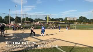 Softball highlights: Decorah at CPU