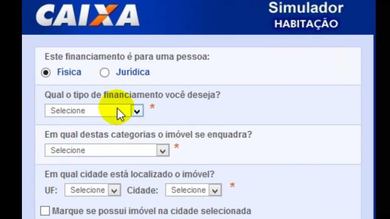 Simulador caixa compra de im vel novo youtube for Simulador hipoteca caixa