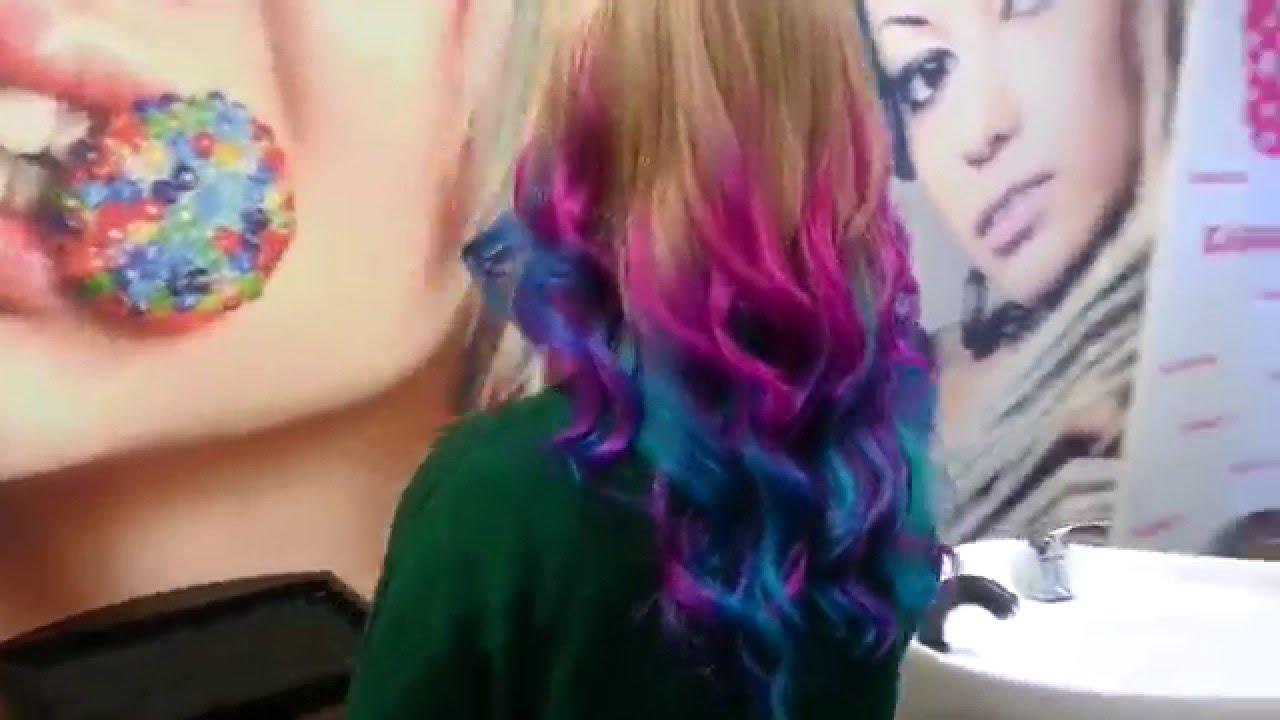 Амбре волосы цветное