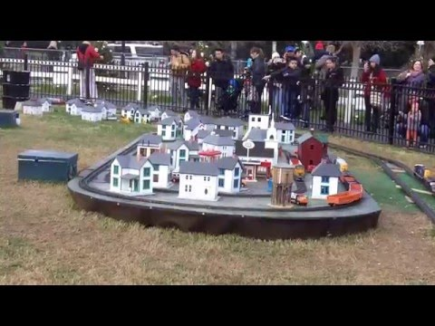 Model Trains At The National Christmas Tree 2015 - Washington DC - 1/1/2016.