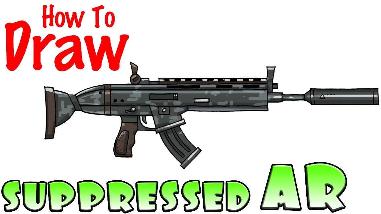 How to Draw the Suppressed AR | Fortnite - YouTube