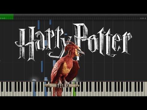 Fawkes The Phoenix - Harry Potter (Piano Tutorial)