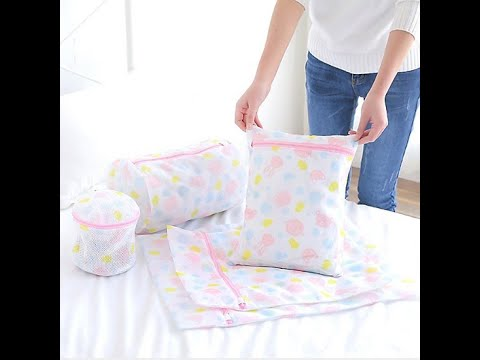 Bộ 5 Túi Lưới Giặt Quần Áo – Bộ 5 Túi Giặt Đồ Lót, Tất, Bảo Vệ Quần Áo Họa Tiết Bền – Rẻ – Đẹp