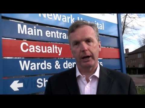 Dr Ian Campbell speaking about Newark Hospital