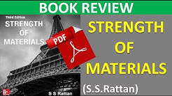 Strength of material , ss rattan book review.