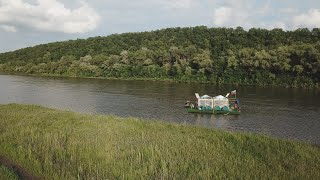 Сплавились на ПЛОТУ по дикой РЕКЕ Рыбалка во время сплава