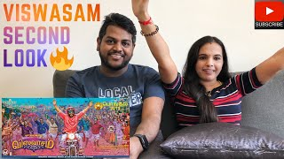 Viswasam Second Look Reaction & Review | Malaysian Indian Couple | ThalaThalapathy | Filmy React