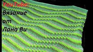 Вязание спицами: описание топа/кофточки - 2 МК. Летний топ/кофточка спицами спущенными петлями