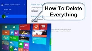 How to Wipe a Computer Clean and Start Over - Windows 8.1 Free & Easy