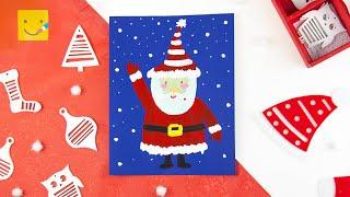 Как нарисовать Деда Мороза на Новый год легко/How to draw Santa Slaus step by step