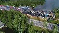 Pudasjärven Perhemarketin tulipalo