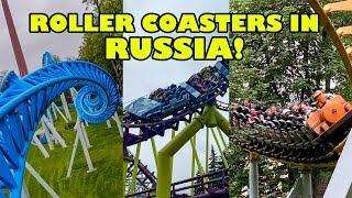 Riding Roller Coasters in Russia! Wonder Island Amusement Park! 4K Front Seat POV Диво Остров