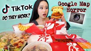 We Tested Viral TIKTOK CHIK-FIL-A Food Hacks MUKBANG *shocking