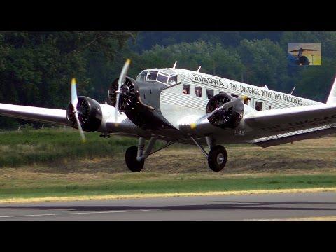 Historische Ju 52 HB-HOT Rundflug Start/Landung in Mönchengladbach - Eröffnung Hugo Junkers Hangar