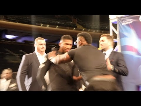 HEAVYWEIGHT BEEF! - JARRELL BIG BABY MILLER SHOVES ANTHONY JOSHUA AS TEMPERS FLARE IN NEW YORK! Mp3