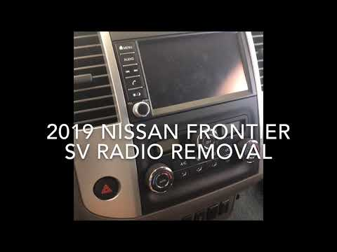 2019 Nissan Frontier Radio Removal