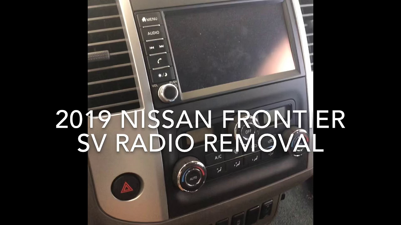 [SODI_2457]   2019 Nissan Frontier radio removal - YouTube | 2015 Nissan Xterra Radio Wiring Harness Diagram |  | YouTube