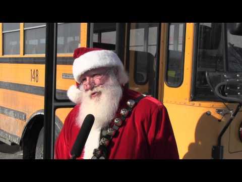 School Bus Santa